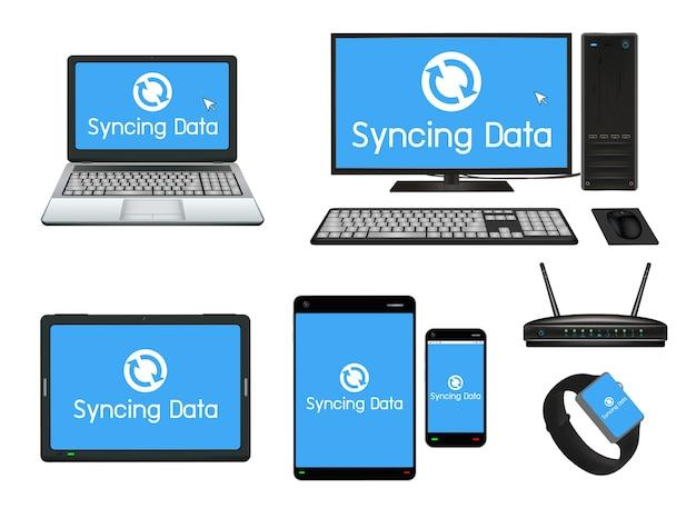 Intelligente geräte- und computersynchronisierung