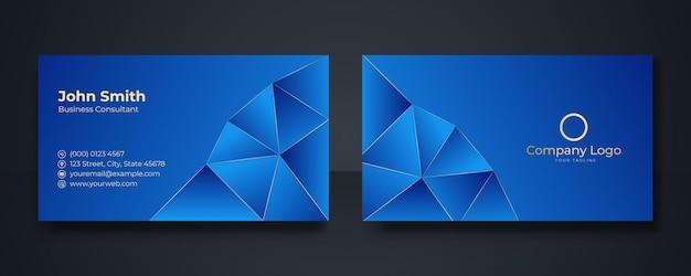 Intelligente moderne visitenkarte, vektorillustration, dunkelblauer hintergrund