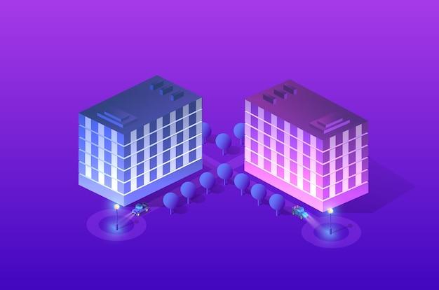 Intelligente stadt des ultravioletten