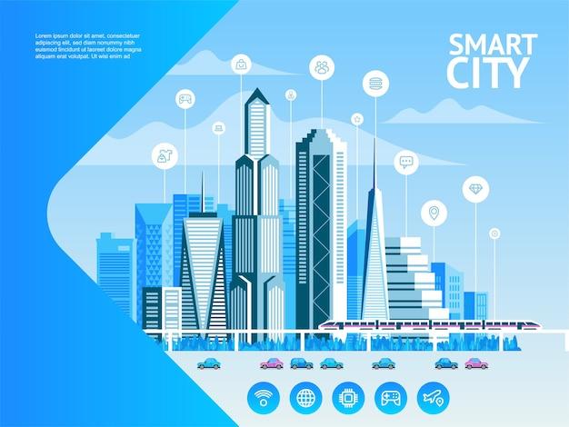 Intelligente stadtillustration