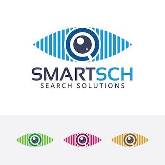 Intelligente suche vektor-logo-vorlage