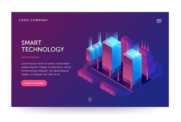 Intelligente technologieillustration