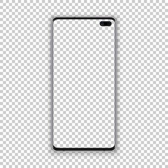 Intelligente telefonkonzeptschwarzfarbe mit leerem schirm