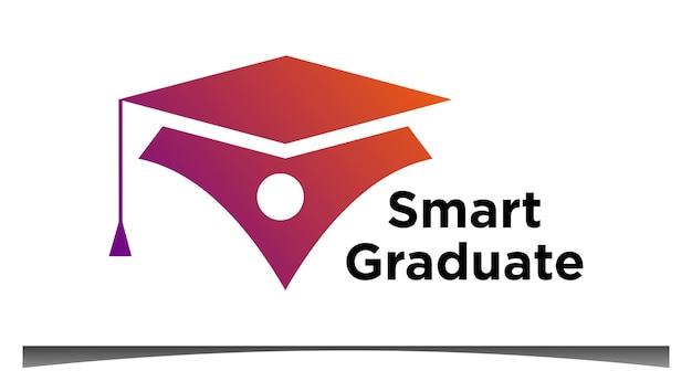 Intelligenter absolvent für bildungslogo