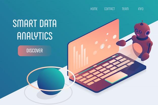 Intelligenter datenanalyse-laptop