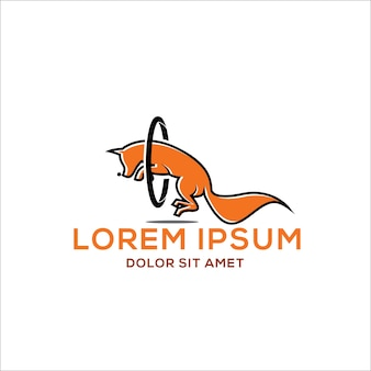 Intelligenter fox-sprung-logodesign