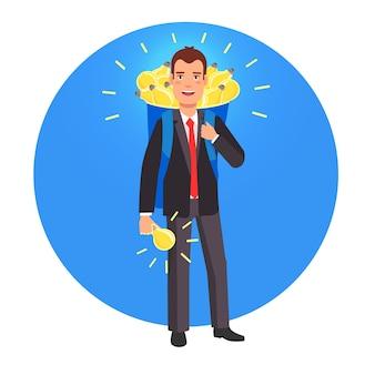 Intelligenter innovator und unternehmer Kostenlosen Vektoren