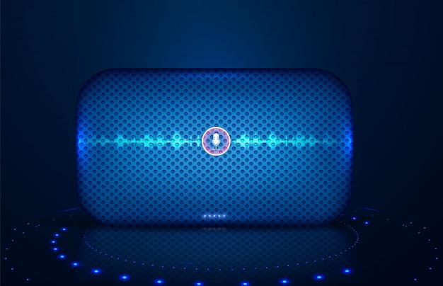 Intelligenter lautsprecher mit sprachsteuerung