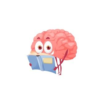 Intelligentes cartoon-gehirnlesebuch, psychische gesundheit