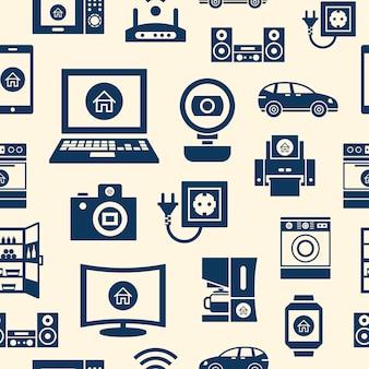 Intelligentes internet des infographic konzeptes der sachen wendet ikonensammlung ein