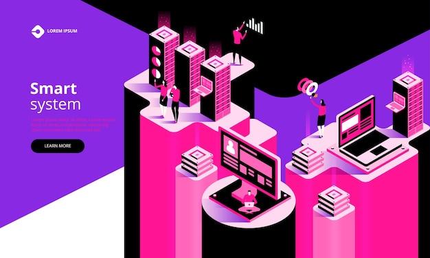 Intelligentes system abstraktes technologiekonzept