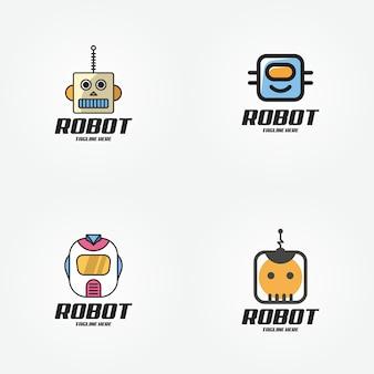 Intelligentes zukünftiges logo-design des technologieroboters