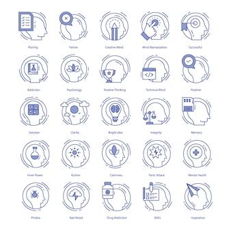 Intelligenz-vektor-icons pack