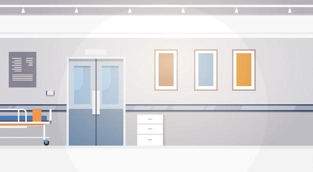 Intensivtherapie-korridor-fahne des krankenhausraum-innenraums mit kopienraum
