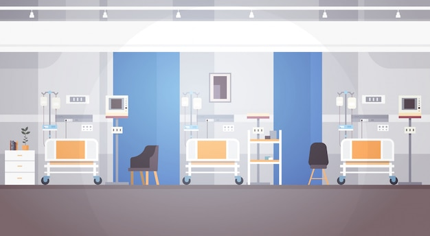 Intensivtherapie-patient ward banner with copy space im krankenhauszimmer