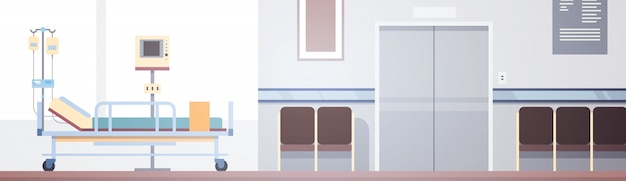 Intensivtherapie-patient ward banner with copy space im krankenhauszimmer