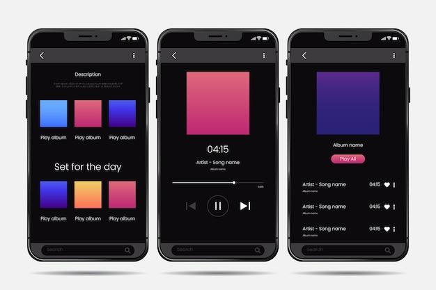 Interface-design der musik-player-app-vorlage