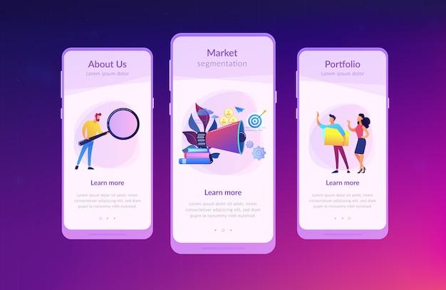 Interface-vorlage für die zielgruppen-app