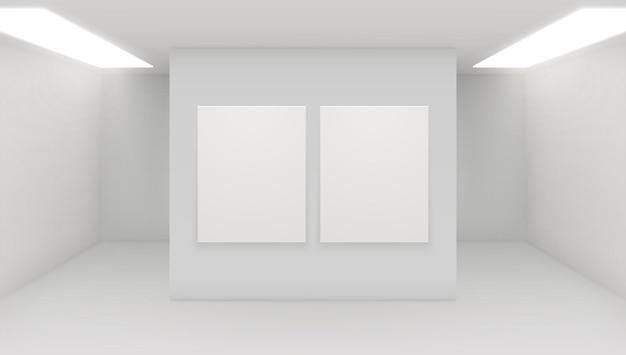 Interieur der galerie für moderne kunst