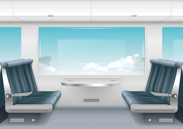 Interieur hochgeschwindigkeitszug