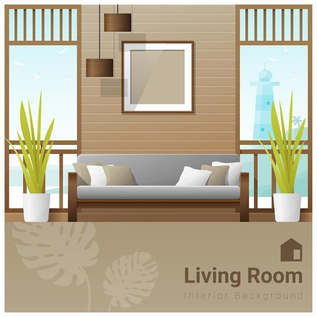 Interior design moderne wohnzimmer banner