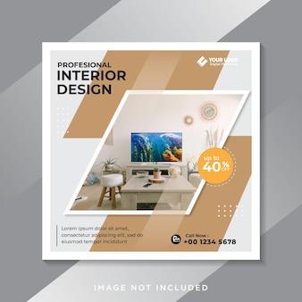 Interior home living social media post vorlage