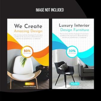 Interior instagram banner vorlage