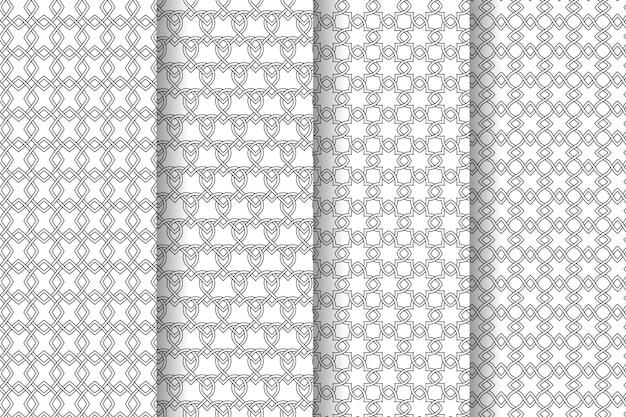 Interlaced geometrische muster sammlung