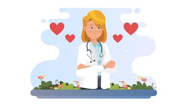 International nurse day illustration hintergrund