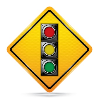 International signal ahead symbol verkehrszeichen.