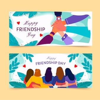 Internationale freundschaftstag banner gesetzt