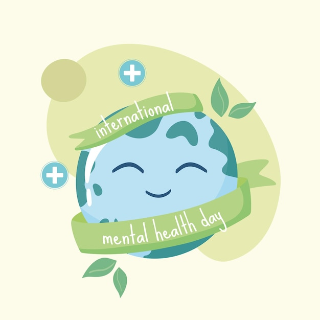 Internationale grußkarte zur psychischen gesundheit