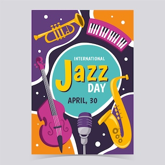 Internationale jazz day flyer vorlage