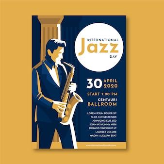 Internationale jazz day poster vorlage