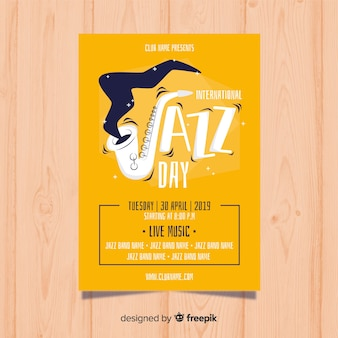 Internationale jazz-tag-poster-vorlage