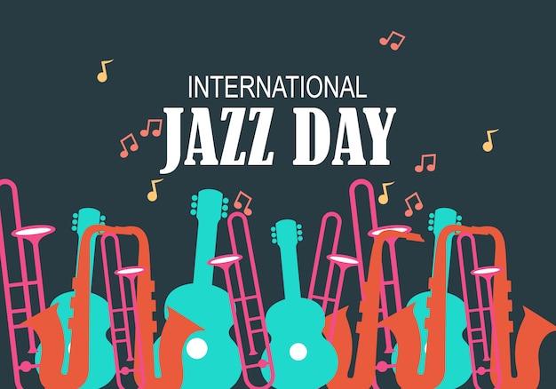 Internationale jazz-tagesvektorabbildung