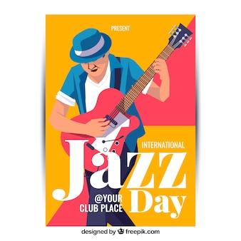 Internationale jazztagesplakatschablone