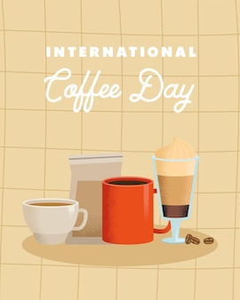 Internationale kaffee-tageskarte