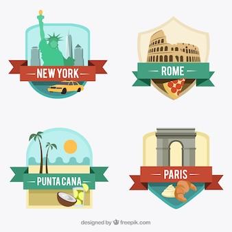 Internationale stadt abzeichen