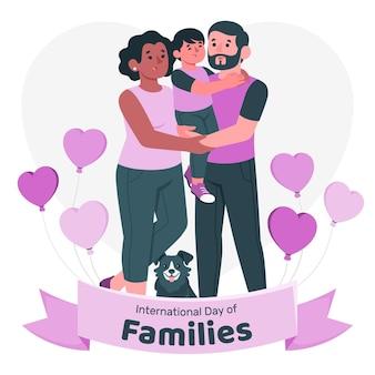 Internationale tag der familien-konzeptillustration