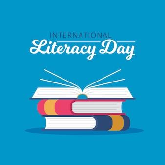 Internationaler alphabetisierungstag mit flachem design