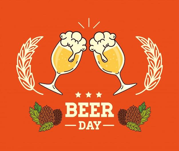 Internationaler biertag, august, bier und hopfensamen