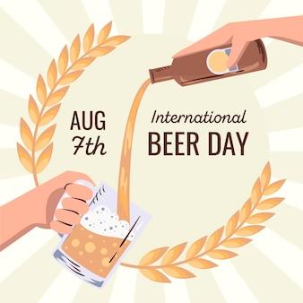 Internationaler biertag mit bier in pint