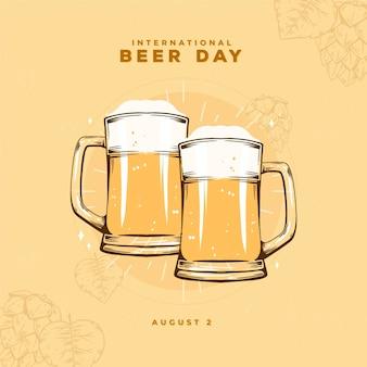 Internationaler biertag mit bier pints