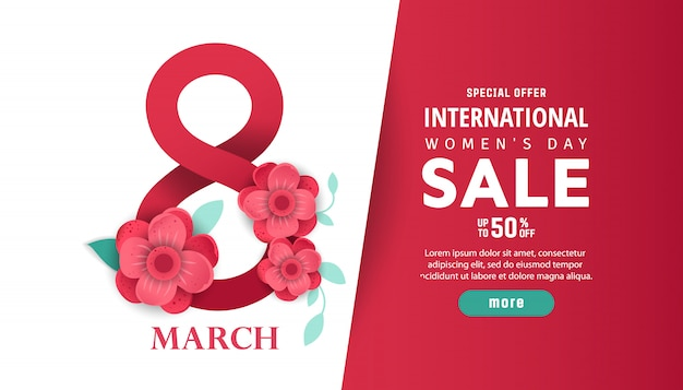 Internationaler damen-tagesverkauf