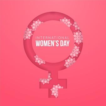 Internationaler frauentag hintergrund mit weiblichem geschlecht