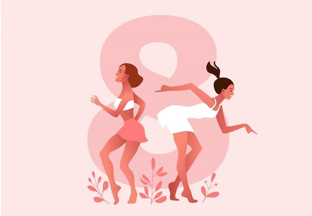 Internationaler frauentag. märz. frauen tanzen