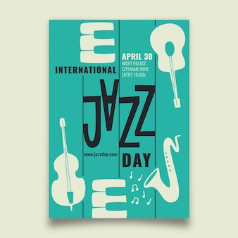 Internationaler jazz day flyer
