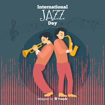 Internationaler jazz-tag-hintergrund