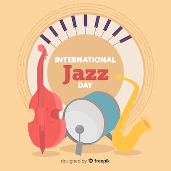 Internationaler jazz-tag-hintergrund